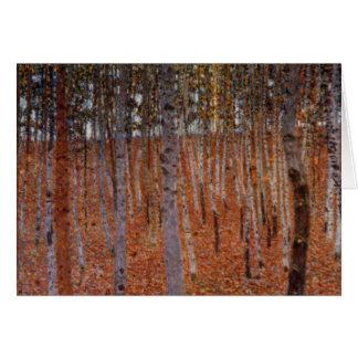 Cartão Beechwood-Floresta de Klimt