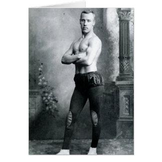 Cartão Beefcake 1898 do circo
