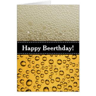 Cartão Beerthday feliz! A festa de aniversário do adulto
