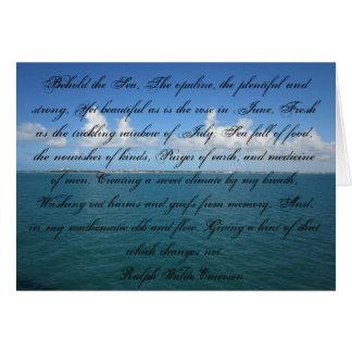 Cartão Behold o mar… Ralph Waldo Emerson