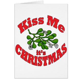 Cartão beije-me que é Natal