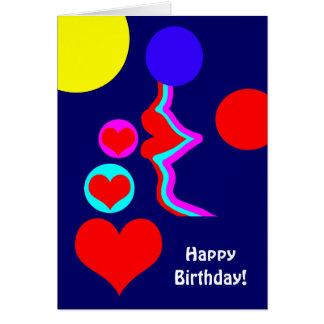 Cartão Beijo bonito dos lábios do aniversário para esse