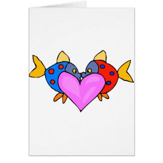 Cartão Beijo de 2 peixes