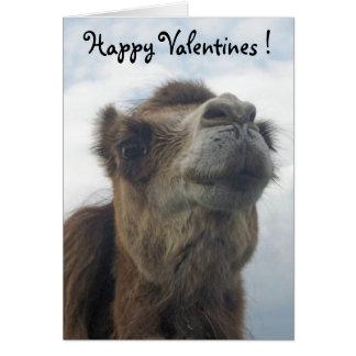 Cartão Beijo do camelo