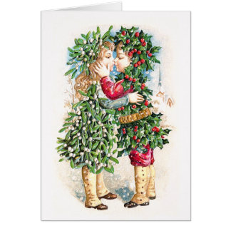 Cartão Beijo do Natal