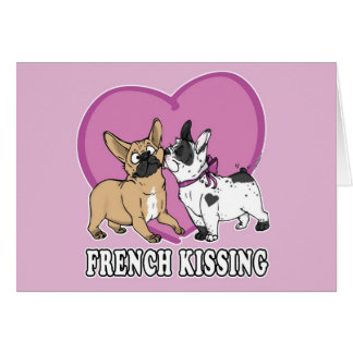 Cartão Beijo francês