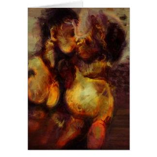 Cartão Beijo grego da noite