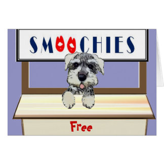 Cartão Beijos do cão