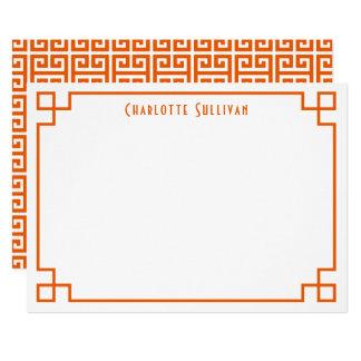 Cartão Beira chave grega alaranjada artigos de papelaria