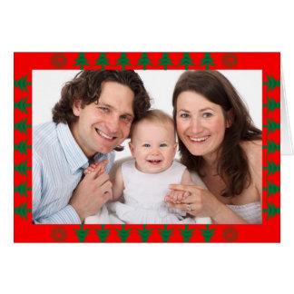 Cartão Beira da árvore de Natal com foto