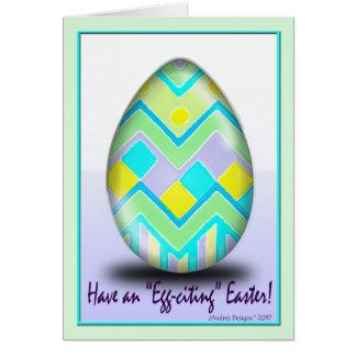 Cartão Beira interna da páscoa Egg_21F2F2 do ziguezague