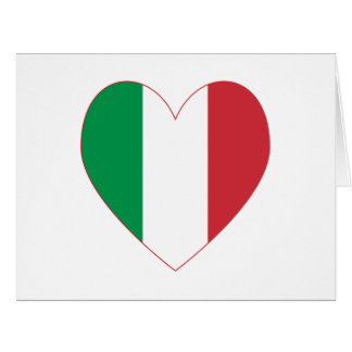 Cartão Beira italiana do vermelho da bandeira do coração