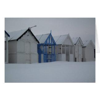 Cartão Beira-mar do inverno
