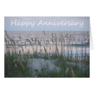 Cartão Beira-mar feliz do aniversário - à mamã e ao pai