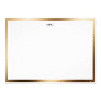 Cartão Beira Notecard do ouro de Merci