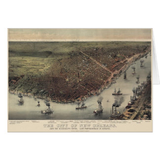 Cartão Beira-rio velho de Nova Orleães
