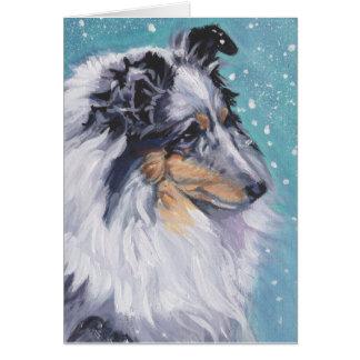 Cartão Belas artes bonitas do Sheepdog de Sheltie