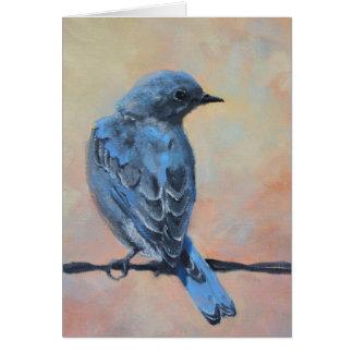 Cartão Belas artes do Bluebird da montanha