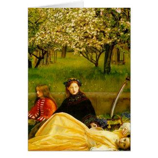 Cartão Belas artes do primavera das flores de Apple