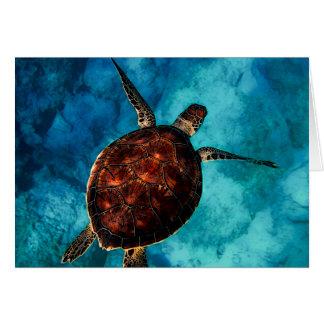 Cartão Beleza da tartaruga de mar