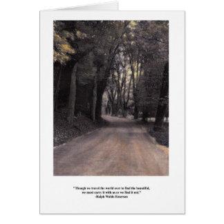 Cartão Beleza do carregar dentro das citações de Emerson