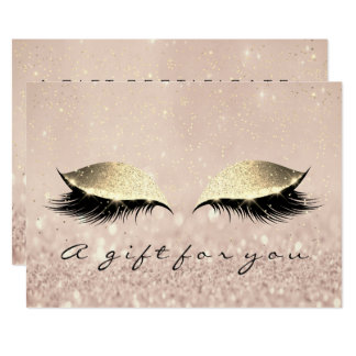 Cartão Beleza do chicote do ouro do maquilhador do
