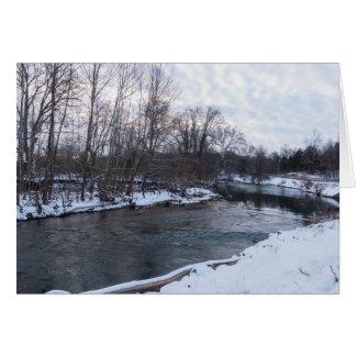 Cartão Beleza James River da neve
