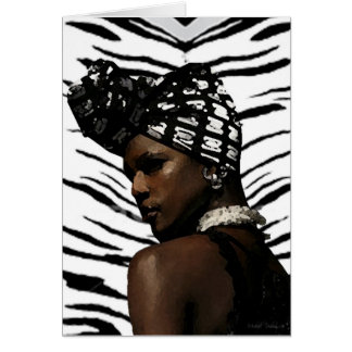 Cartão Beleza preta de Ghana