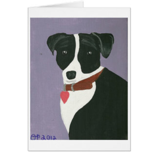 Cartão Beleza preto e branco