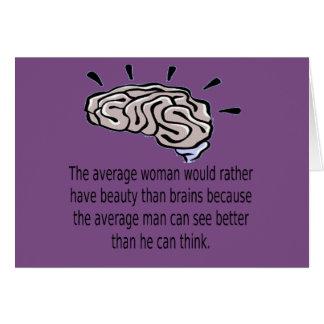 Cartão Beleza sobre cérebros