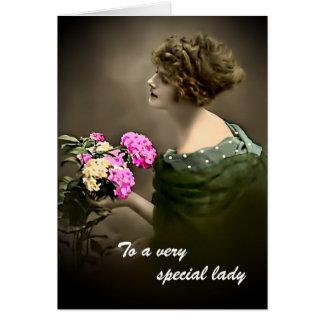 Cartão Beleza VI do vintage