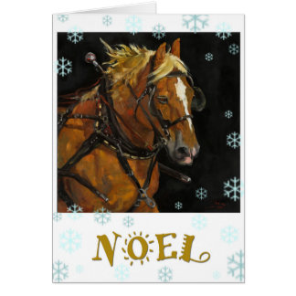 Cartão belga do feriado do cavalo de esboço