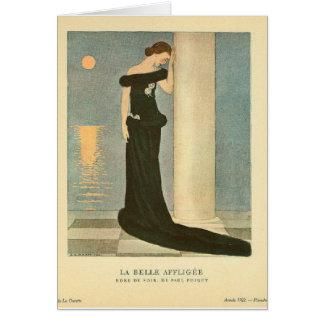 Cartão Belle Affligee do La do ~ da ilustração do art