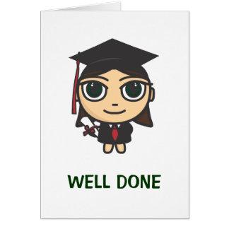 Cartão bem cozido da graduação do caráter da
