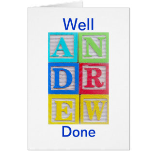 Cartão bem cozido de Andrew