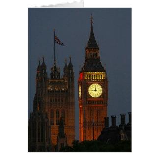 Cartão Ben-Londres-Inglaterra grande