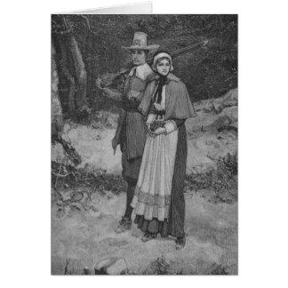 Cartão Bênção da acção de graças - casal do peregrino