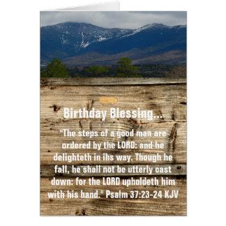 Cartão Bênção do aniversário