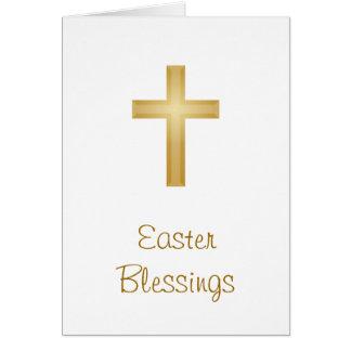 Cartão Bênçãos da páscoa/religioso