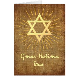 Cartão Bênçãos de Yom Kipur da estrela de David