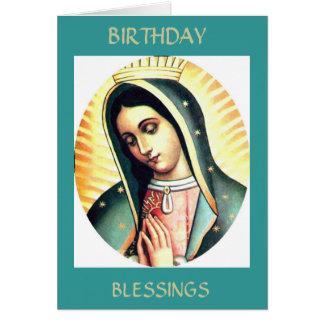 Cartão Bênçãos do aniversário