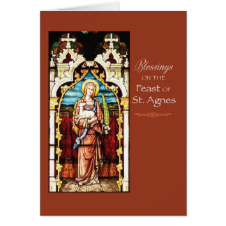 Cartão Bênçãos do dia de banquete do St. Agnes