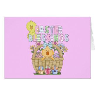 Cartão Bênçãos do felz pascoa