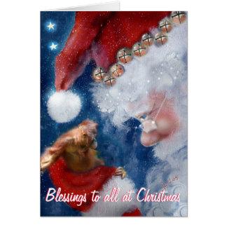 Cartão Bênçãos do Natal a tudo