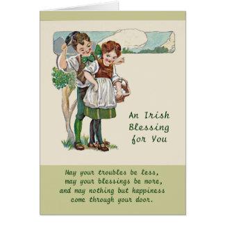 Cartão bênçãos e batatas