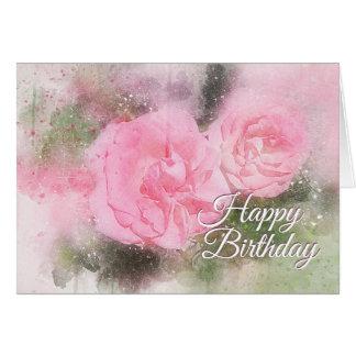 Cartão Benevolência e paz da escritura do aniversário a