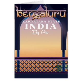 Cartão Bengaluru, poster de viagens de India
