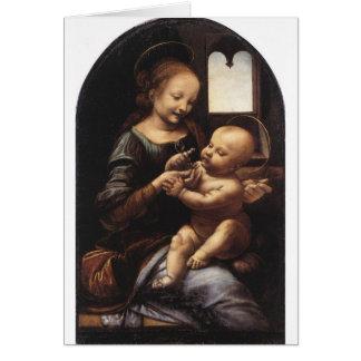 Cartão Benois Madonna por Leonardo da Vinci cerca de 1478
