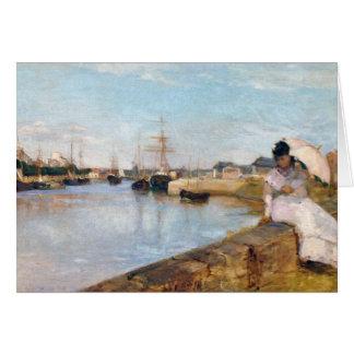 Cartão Berthe Morisot o porto em Lorient