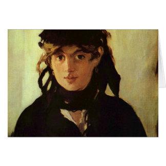 Cartão Berthe Morisot por Edouard Manet